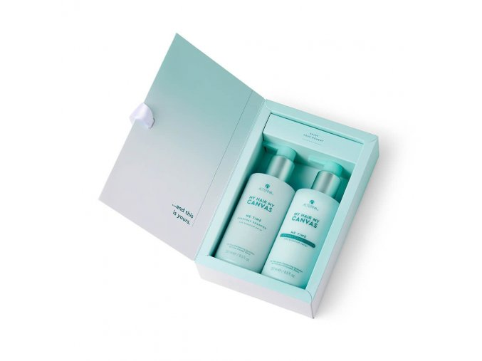 canvas me time xmas box open with products