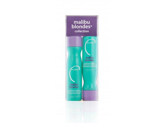 Malibu Blondes® Enhancing Collection Set, šampon 266 ml, kondicioner 266 ml, 4 x wellness sáček