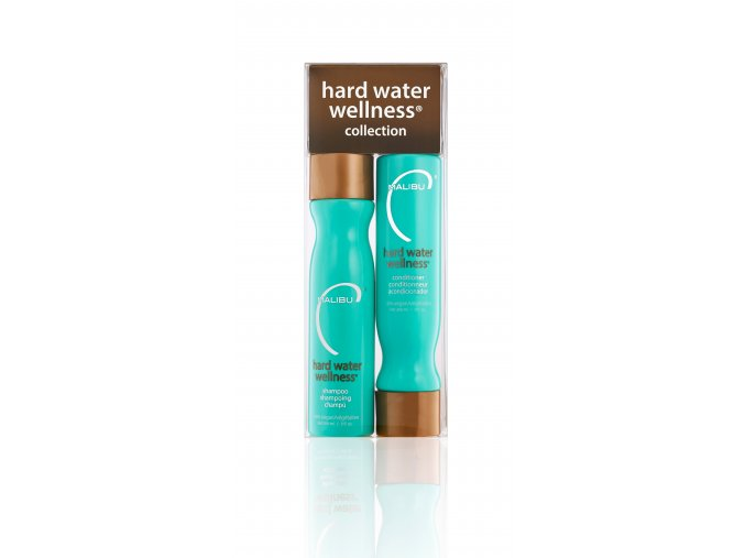 Malibu Hard Water Wellness® Collection Set, šampon 266 ml, kondicioner 266 ml, 4 x wellness sáček