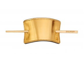 BalmainHair Accessories HairBarrette Leather Gold LR