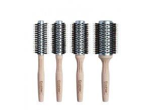 Olivia Garden EcoHair - kartáč na vlasy s bambusovou rukojetí, s kančími a ionickými štětinami