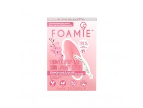 Foamie Shower Body Bar Cherry Kiss With Cherry Blossom and Rice Milk