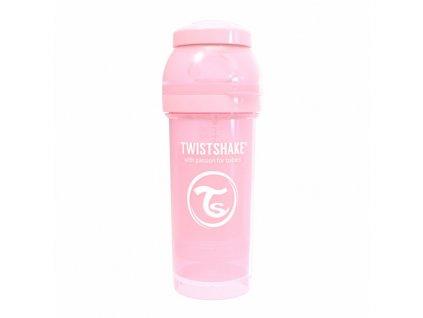 twistshake kojenecka lahev anti colic pastel 260ml light pink