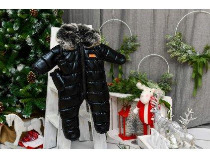 Zimní Fashion Overal - Černá