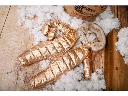 Zimní Fashion Overal - Zlatá