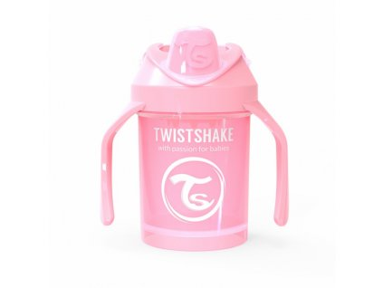 twistshake hrnek ucici 230ml light pink