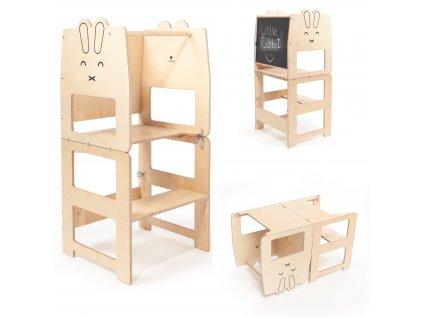 Multifunkční učící věž králík přírodní by Craffox