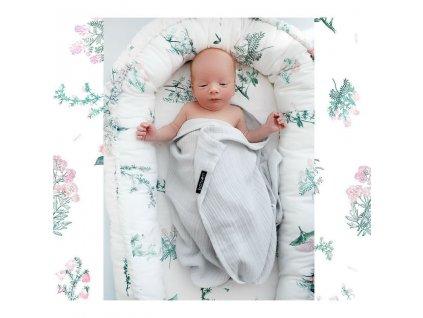 Hnízdečko pro miminko Luční kvítí růžové