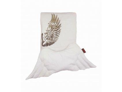 poscile biala do lozeczka queen baby skrzydla