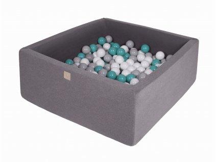 Gotowy zestaw kwadratowy basen z kulkami 000014