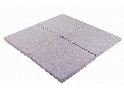 Pěnová podložka  Square na hraní pro děti, šedá