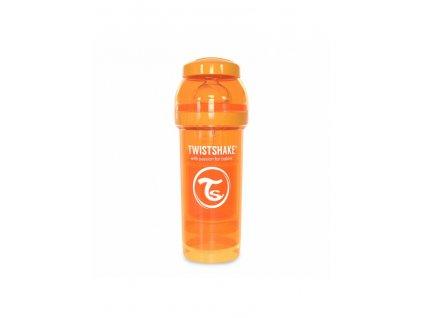 twistshake kojenecka lahev anti colic 260ml oranzova