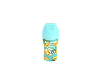 twistshake kojenecka lahev anti colic nerezova 260ml savicka m banan