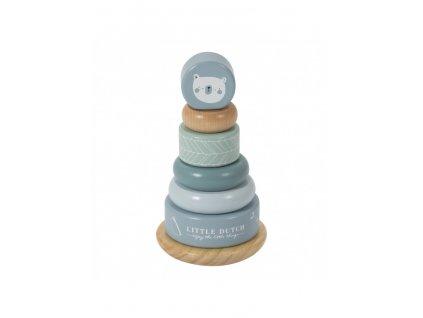 little dutch vkladaci krouzky blue