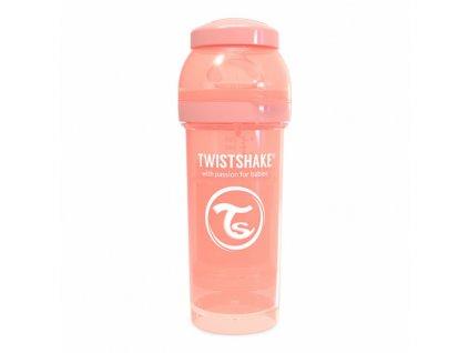twistshake kojenecka lahev anti colic 260ml peach