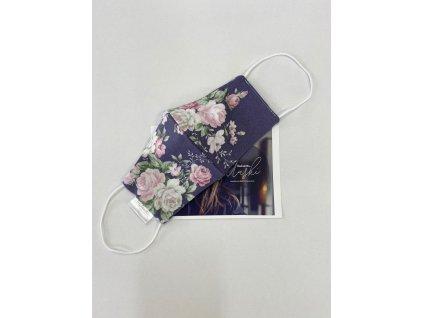 fashion bavlnena rouska zahrada