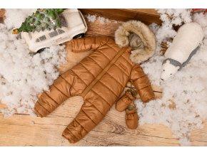 Zimní Fashion Overal - Hnědá