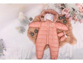 Zimní Fashion Overal - Růžová