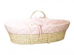 Ahojbaby Potah do Mojžíšova košíku pro miminko Pink