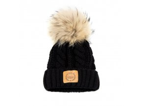 LAttante pletená čepička - Černá