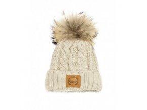 zimowa czapka lattante jasno szara