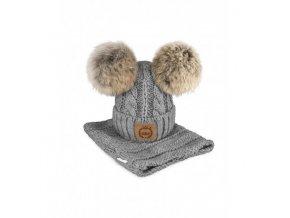 czapka z kominem szara (1)