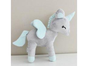 3169 unicorn grey szary jednorozec l