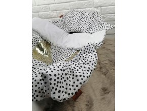 posciel bawelniana w kropki biala queen baby (3)