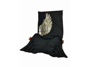 posciel bawelniana skrzydla aniola anielski sen czarna posciel dla dzieci