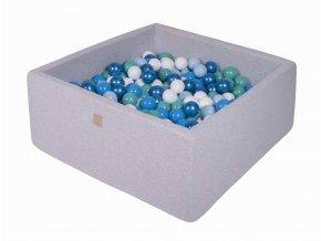 Gotowy zestaw kwadratowy basen z kulkami 000026