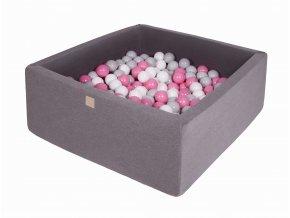 Gotowy zestaw kwadratowy basen z kulkami 000013 (1)