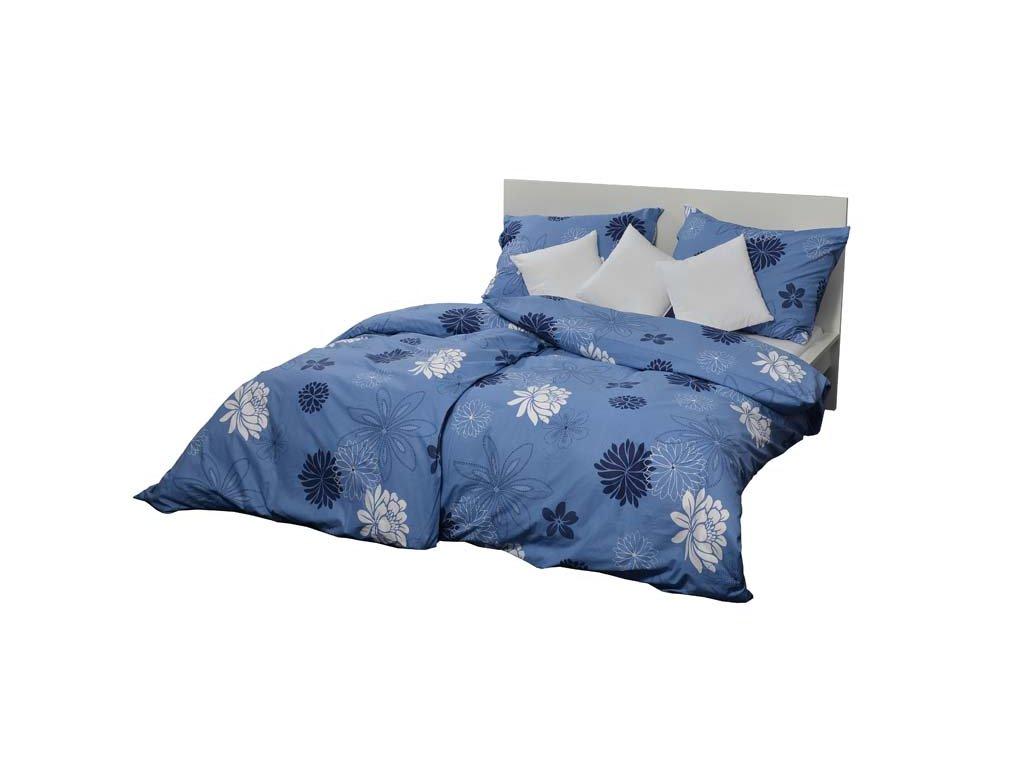 Bavlněné povlečení 140x200 - Květinová variace modrá