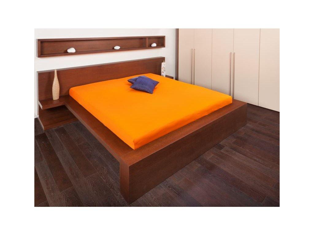Jersey prostěradlo 180x200 - oranžová