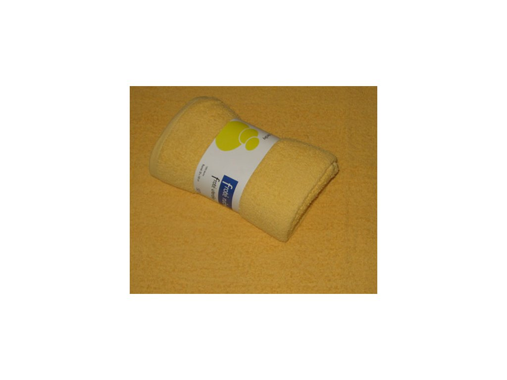 Osuška froté 70x140 - žlutá