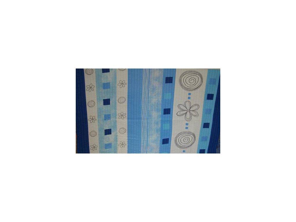 Krepové povlečení 140x200 - Kytky modrobílé