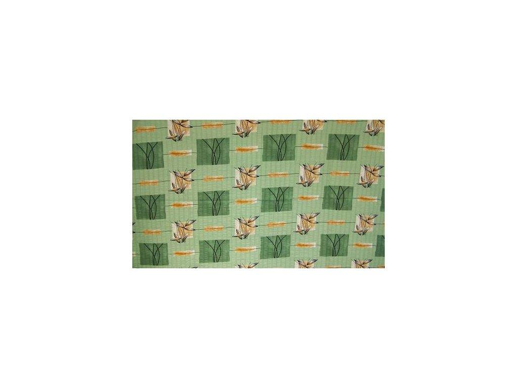 Bavlněné povlečení 140x200 - Zelené rákosí