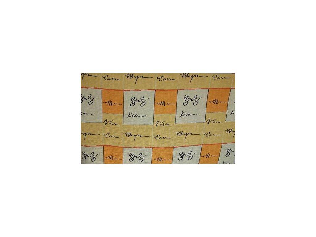 Bavlněné povlečení prodloužené (140x220) - Žluté hieroglyfy