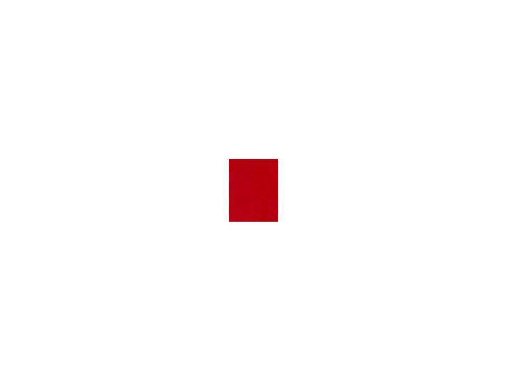 Kulaté sametové prostěradlo - červená