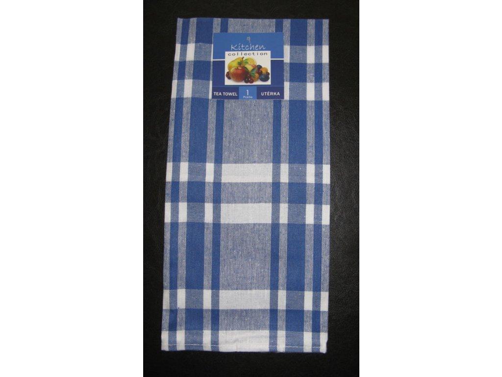 Kuchyňská utěrka modrá - širší pruhy - 1 ks