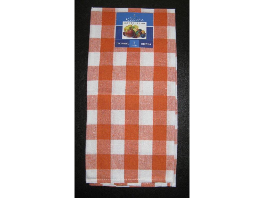 Kuchyňská utěrka oranžová - kostka - 1 ks