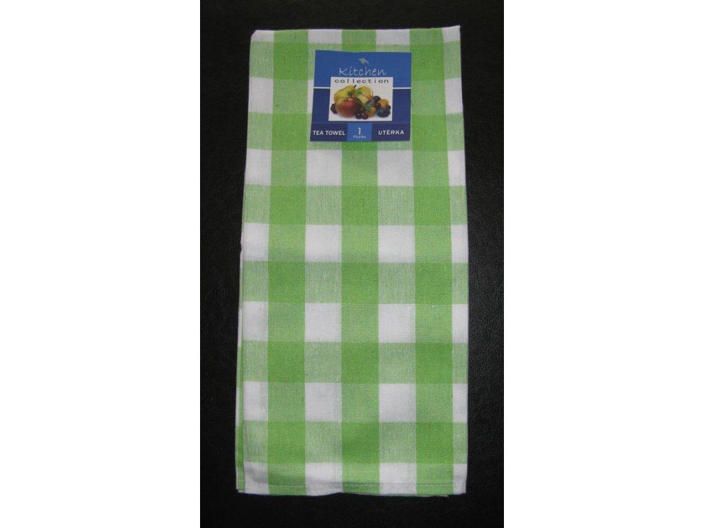 Kuchyňská utěrka zelená - kostka - 1 ks