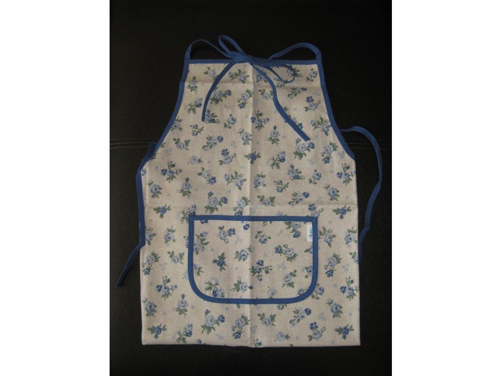 Kuchyňská zástěra - Rococo modré