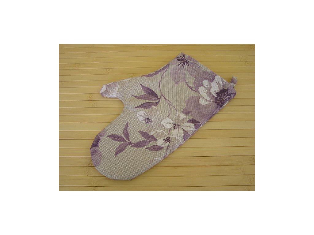 Kuchyňská chňapka - Květ fialový