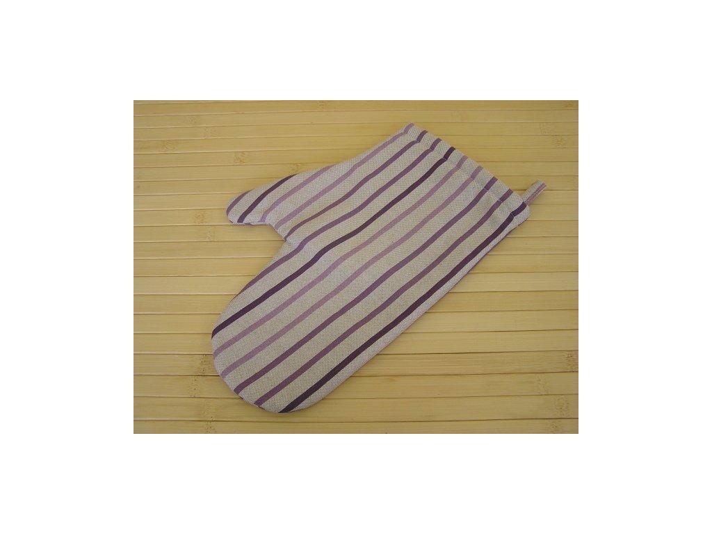 Kuchyňská chňapka - Pruh fialový