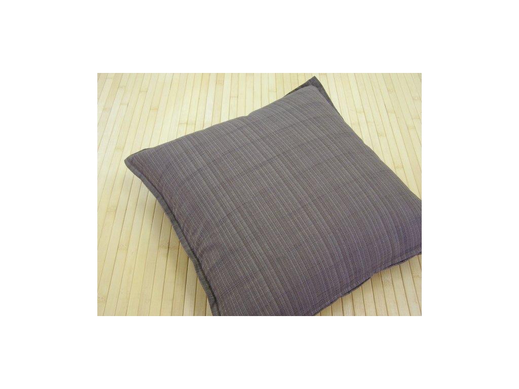 Povlak na polštář - hnědý