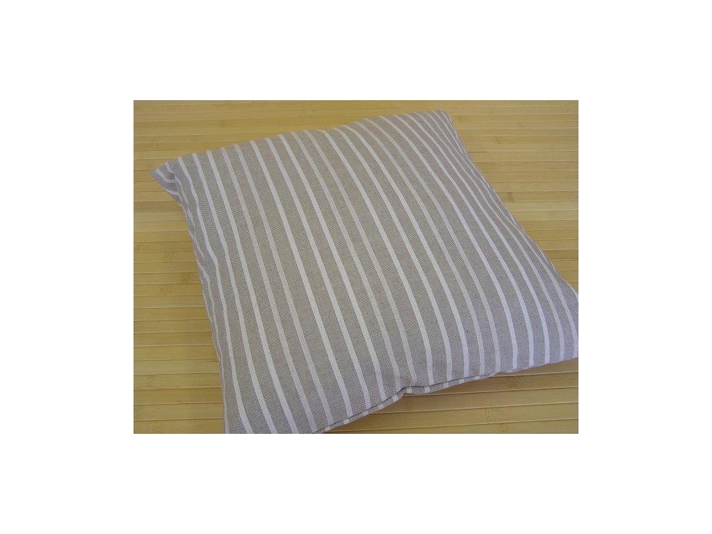 Povlak na polštář - Pruh bílý