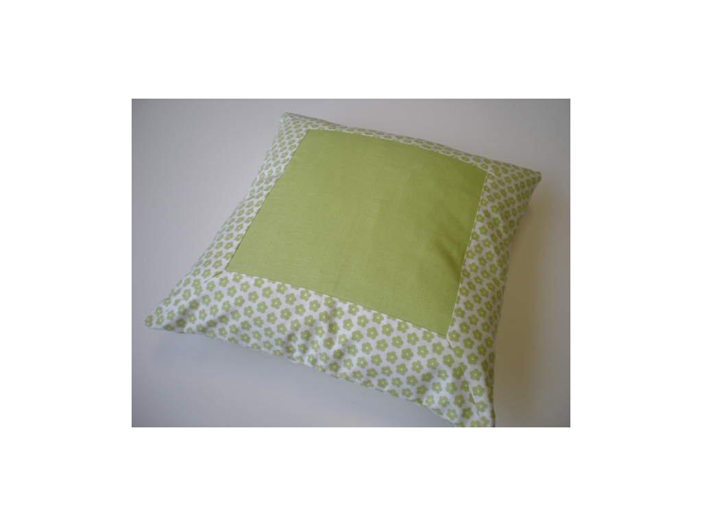 Povlak na polštář - Zelený s lemem