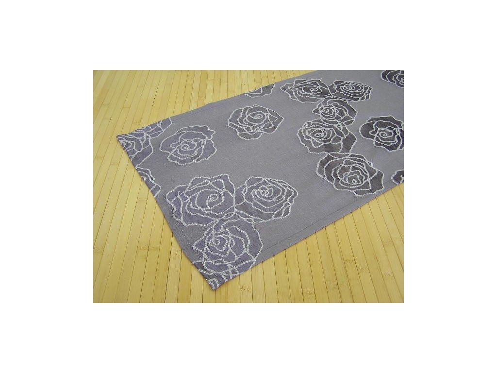 Šál na stůl - Růže šedofialová