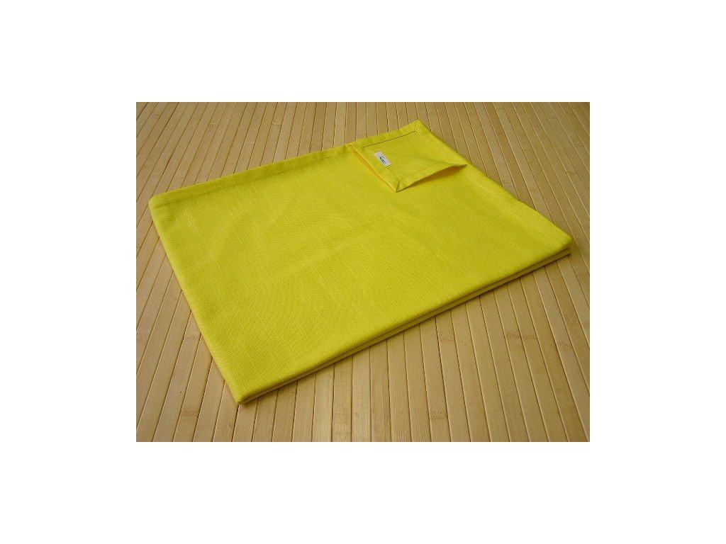 Šál na stůl - žlutý