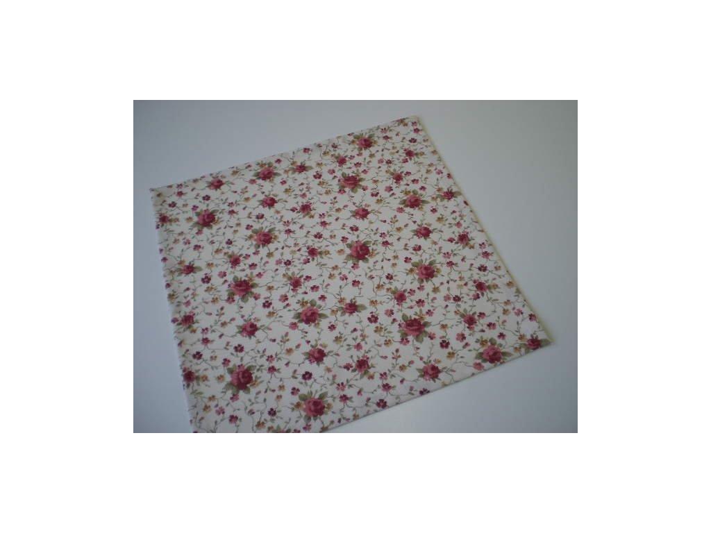 Prostírání - Drobné květiny na smetanové